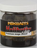Mikbaits Chytacie Halibutky v dipe 20mm 250ml-Slivka Halibut