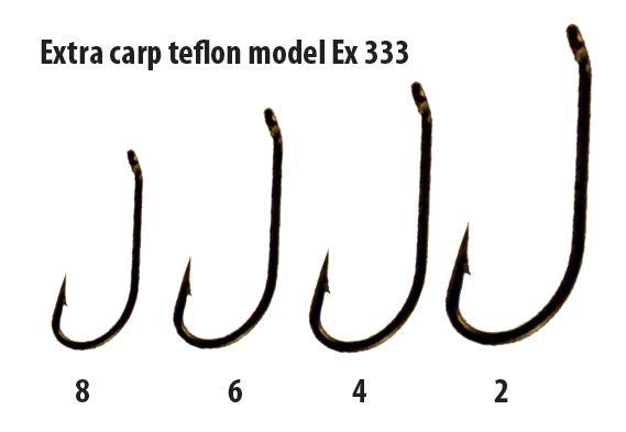 Extra carp háčiky teflon séria ex 333 ( 10ks v balení)-veľkosť 4