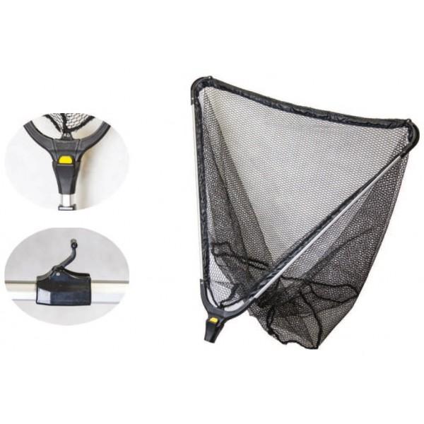 Mistrall podběrák s gumovou síťkou 2 díly-dĺžka 1,5 m / rozmer 40x40 cm