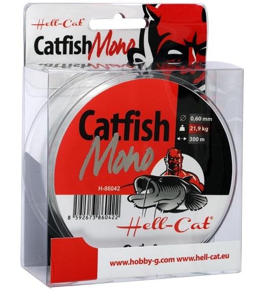 Hell-cat vlasec catfish mono clear 300 m-priemer 0,50 mm / nosnosť 15,3 kg