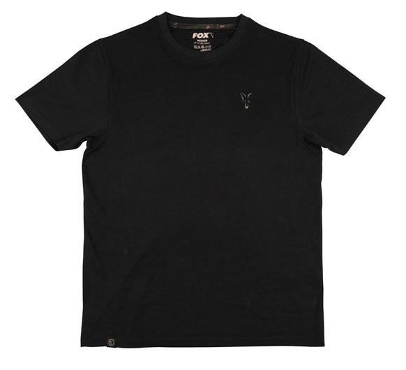 Fox tričko black t shirt - s