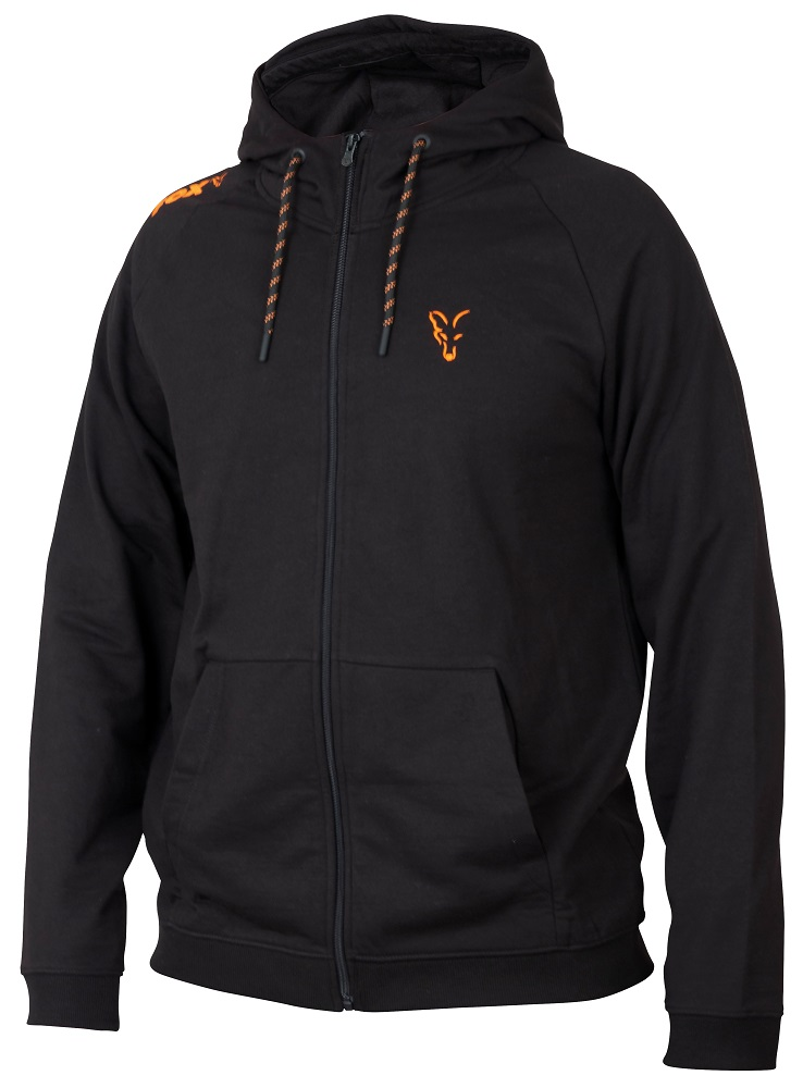Fox mikina collection orange black lightweight hoodie-veľkosť xxxl