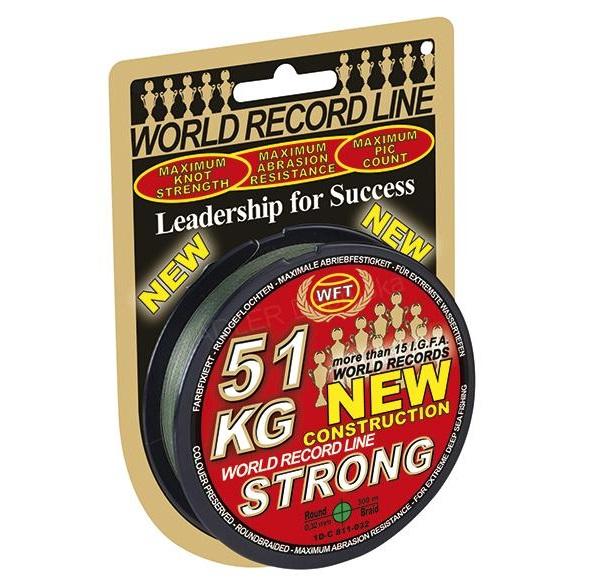 Wft šnúra kg strong zelená 600 m - 0,08 mm 10 kg
