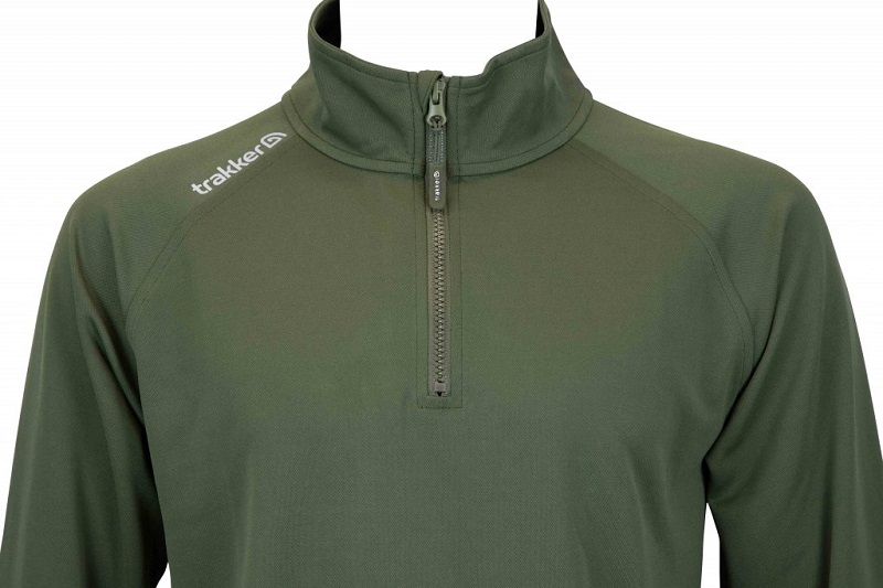 Trakker tričko s dlhým rukávom half zip top with uv sun protection - s