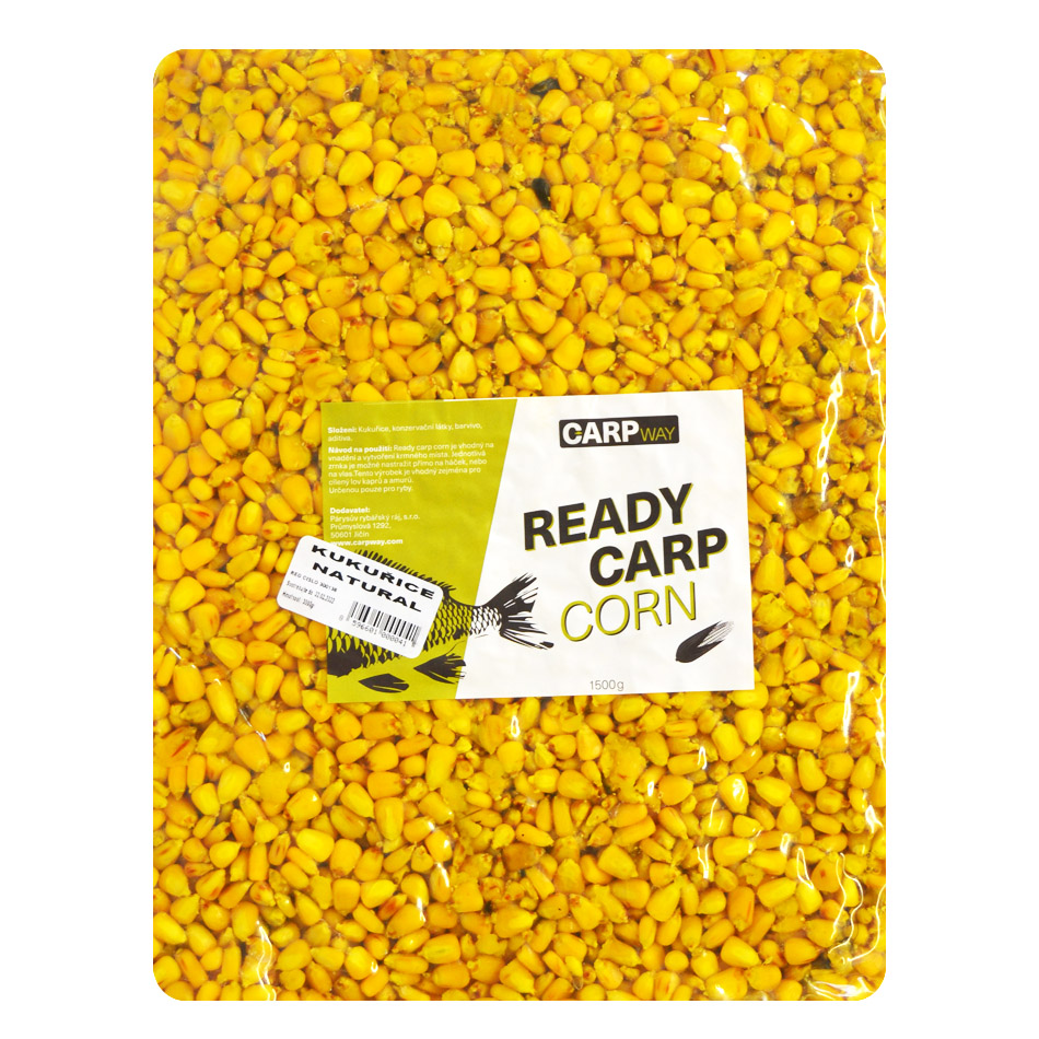 Carpway kukurica ready carp corn 3 kg - natural chilli