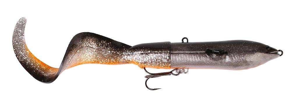 Savege gear 3d hard eel tail bait dirty silver 25 cm 109 g