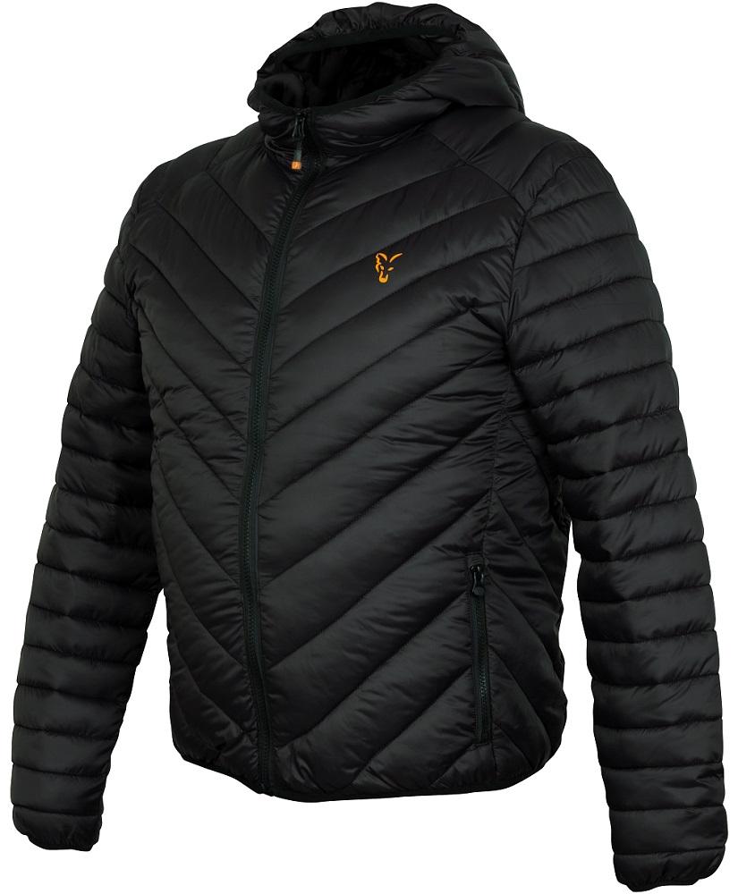 Fox bunda collection quilted jacket black orange-veľkosť s