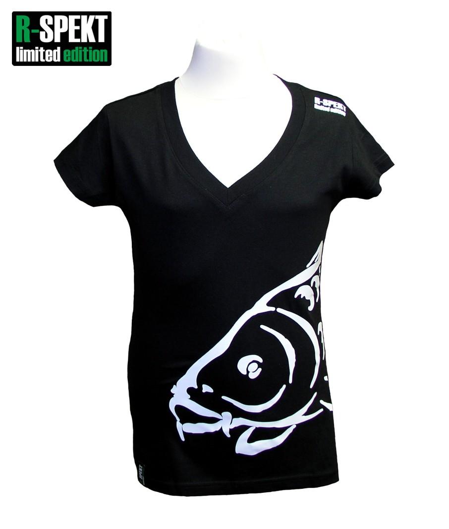 R-spekt tričko lady carper čierne-veľkosť m