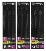 """Matrix Náväzec MXC-1 6 """"Pole Rigs - Veľkosť Háčika 18 Nosnosť 1,4 kg"""