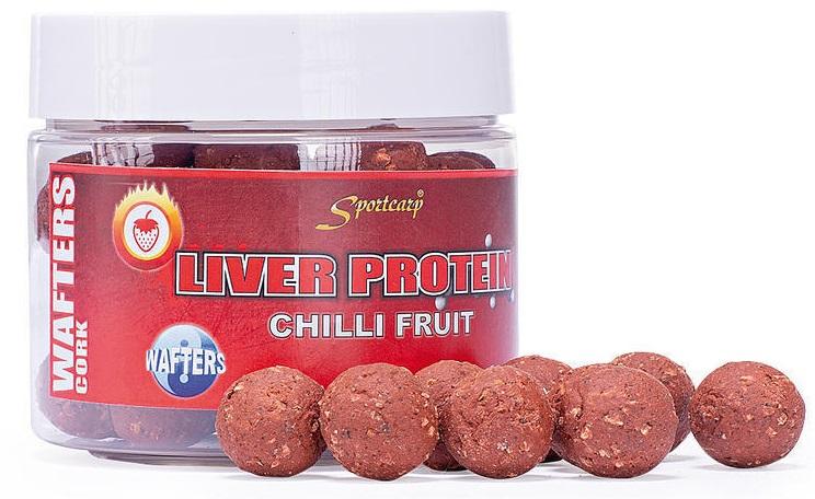 Sportcarp boilie neutrálne vyvážené nástrahy wafters cork 300 ml 18 mm-chilli fruit