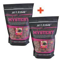 Jet Fish Boilie Mystery Jahoda Moruša 3 kg 24 mm 1+1 Zdarma