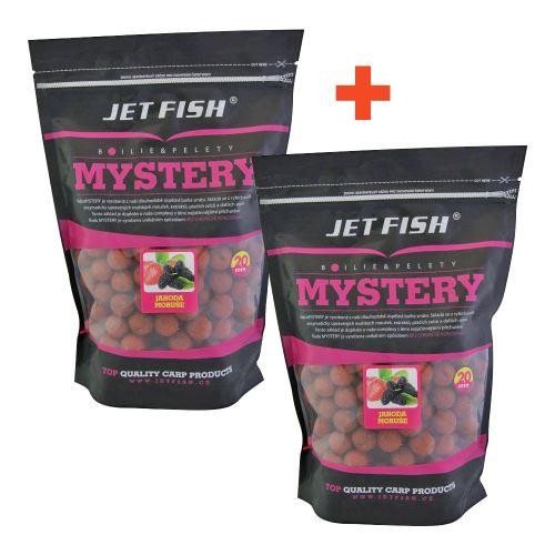 Jet Fish Boilie Mystery Jahoda Moruša 3 kg 1+1 Zdarma