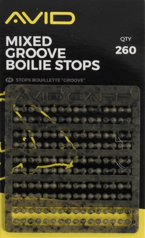 Avid carp zarážky outline mixed groove boilie stops