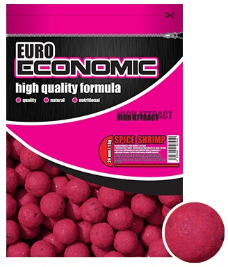 Lk baits boilie euro economic spice shrimp - 1 kg 24 mm