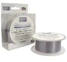 Asso Vlasec Ultra Low Stretch 300 m Čirá - Priemer 0,26 mm / Nosnosť 10,2 kg