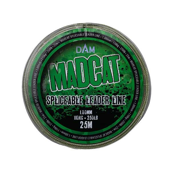 Madcat náväzcová šnúra spliceable leader line 25 m - nosnosť 110 kg / návin 25 m / farba zelená