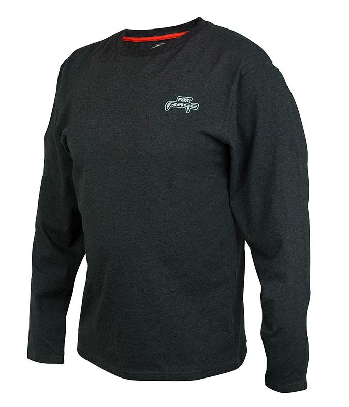 Fox rage tričko black marl tee long sleeve - l