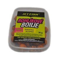 Jet Fish rohlíkové boilies 30g+20g 15mm-Broskyňa