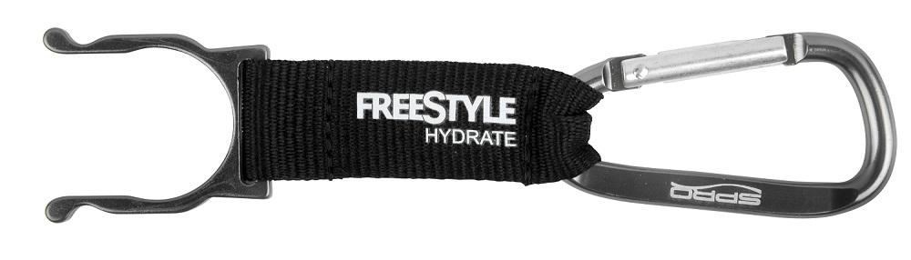 Spro freestyle bottle clip čierny