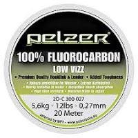 Pelzer - Návazcový vlasec  Fluorocarbon 20 m crystal-Priemer 0,42mm / Nosnosť 24lb / 11kg