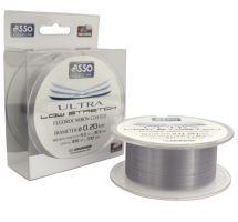 Asso Vlasec Ultra Low Stretch 300 m Čirá - Priemer 0,24 mm / Nosnosť 9,4 kg