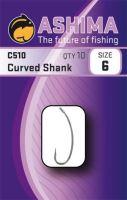 Ashima  Háčiky C510 Curved Shank  (10ks)-Veľkosť 6