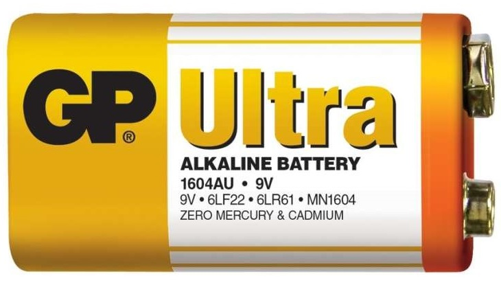 Gp batteries alkalická bateria gp ultra 6lf22 (9v) 1 ks