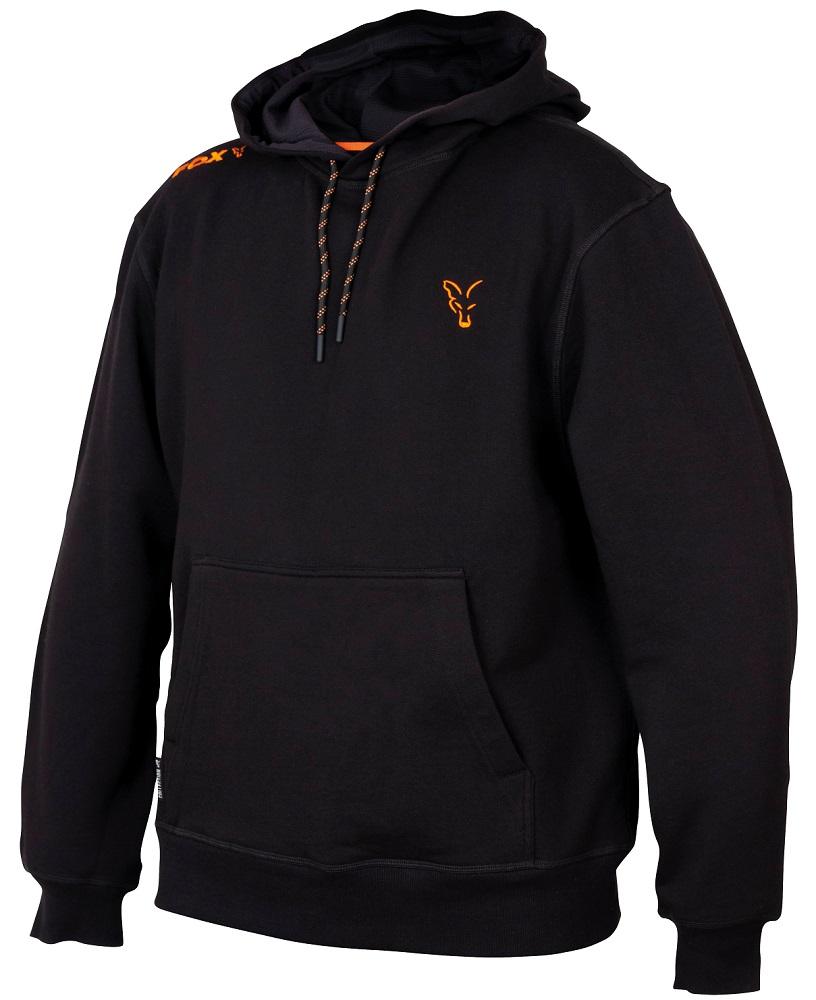 Fox mikina collection orange black hoodie-veľkosť m