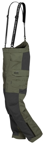 Geoff anderson nohavice barbarus zeleno čierna - veľkosť xxxl