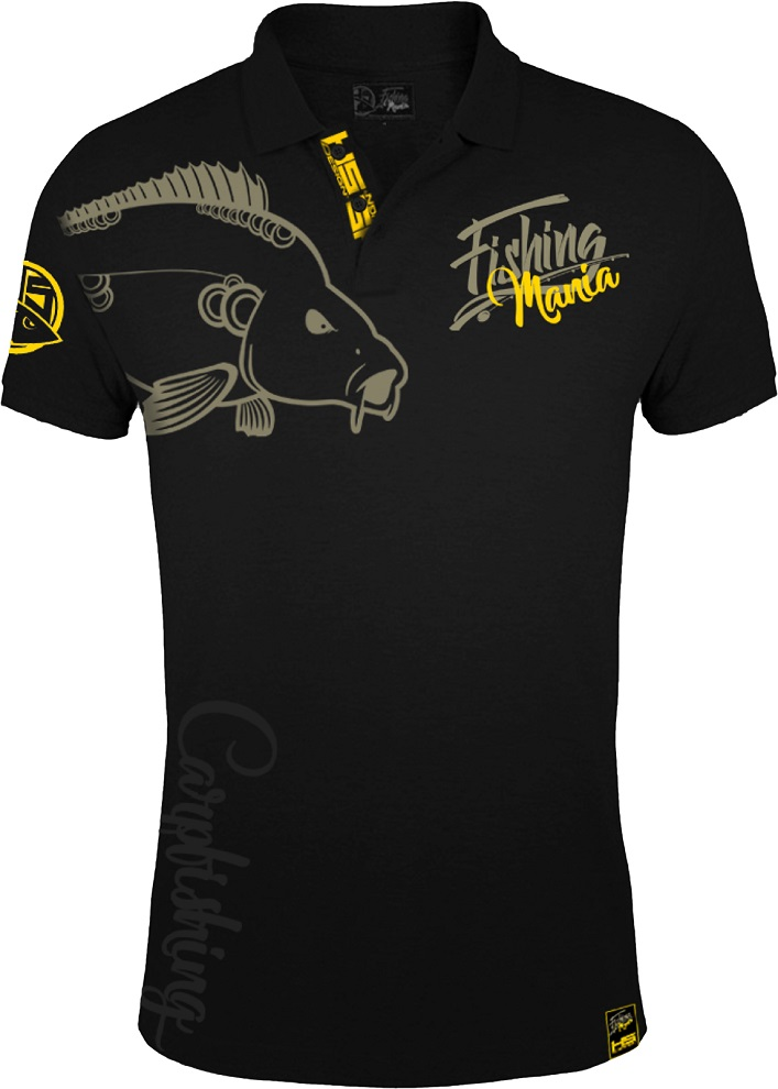 Hotspot design tričko polo carpfishing mania - veľkosť xxl