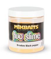 Mikbaits Obaľovací Dip Fluo Slime 100 g-Broskyňa Black pepper