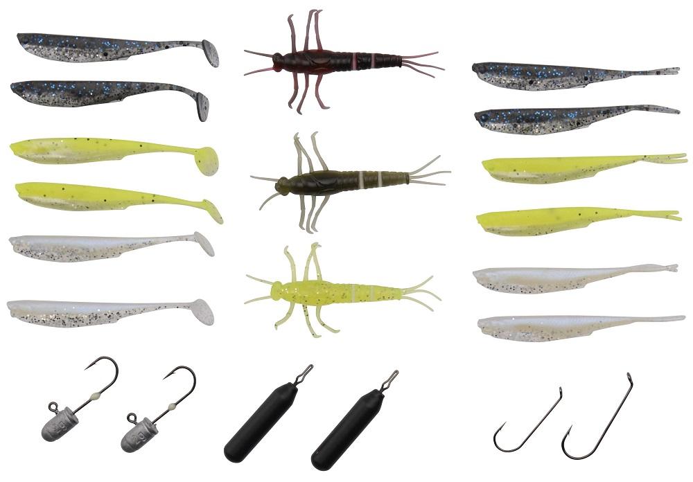 Savage gear set gumových nástrah mini perch kit