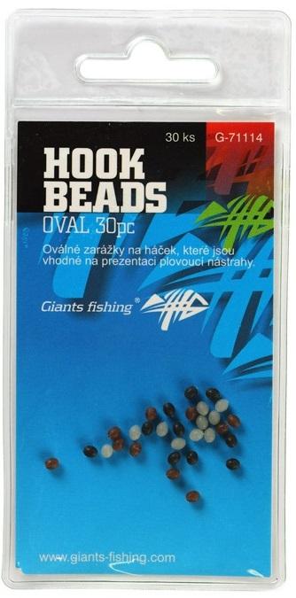 Giants fishing zarážka na háčik hook beads oval 30 ks