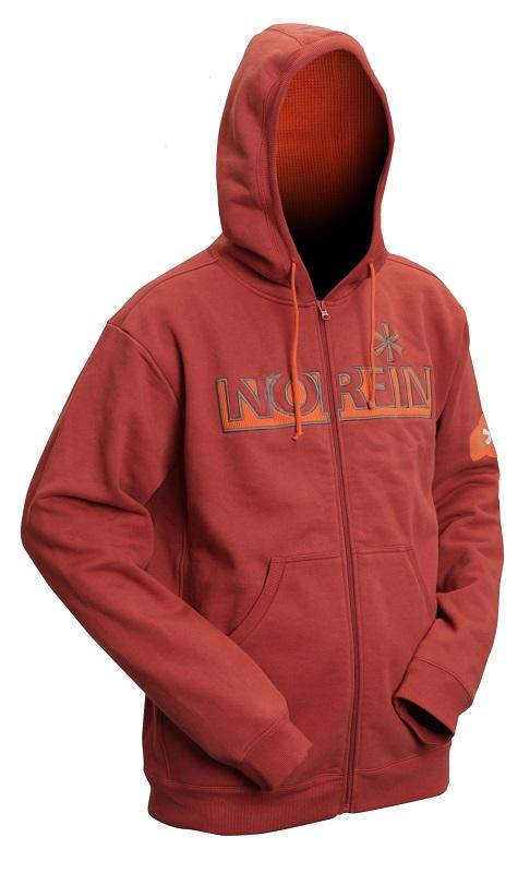 Norfin mikina hoody terracota/červená-veľkosť m