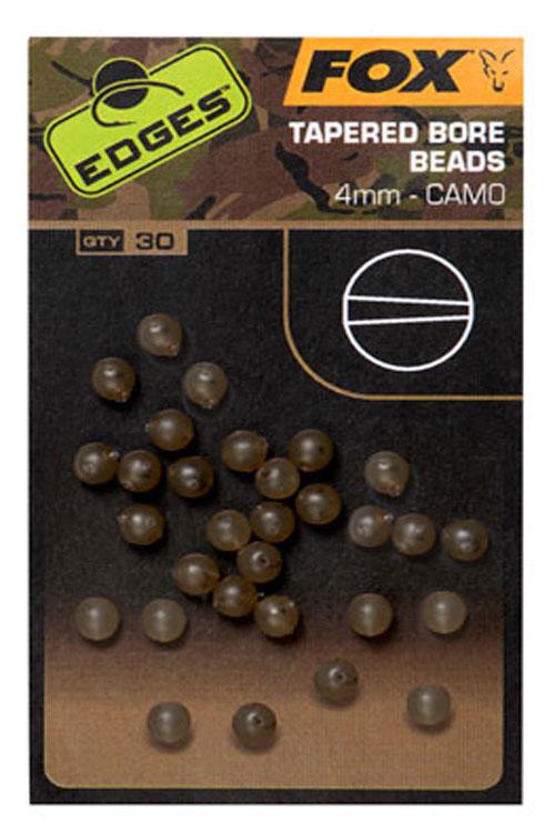 Fox korálky edges camo tapered bore bead 30 ks - 4 mm