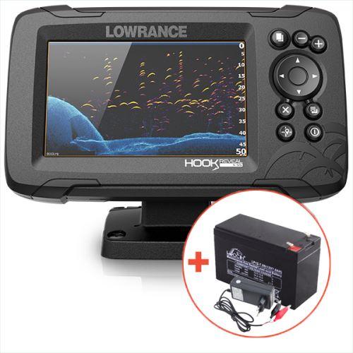 Lowrance Echolot Hook Reveal 5 So Sondou HDI 83/200 KHZ