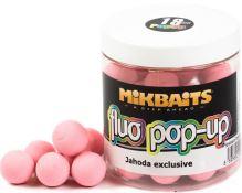 Mikbaits Plávajúce Boile Fluoro 250 ml 18 mm-jahoda exclusive