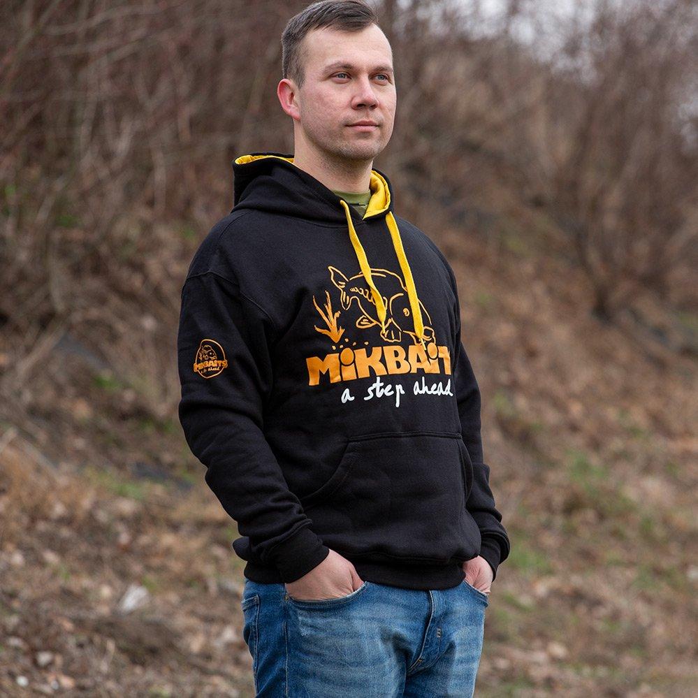 Mikbaits mikina fans team čierna - veľkosť xl