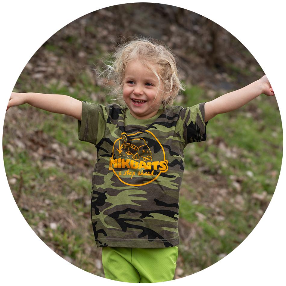 Mikbaits detské tričko camou - 6-10 rokov