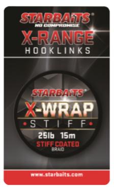 Starbaits náväzcová šnúrka x wrap stiff coated braid 15 m hnedá-nosnosť 25 lb