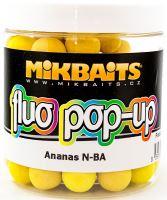 Mikbaits Plávajúce Boiles Fluoro 250 ml 14 mm-Ananas N-BA
