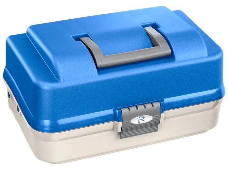 Plastica panaro rybársky kufrík 149/3-poschodový bielo-modrý
