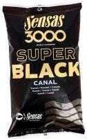 Sensas kŕmenie 3000 SUPER BLACK 1kg-Canal