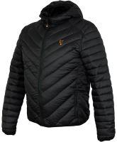 Fox Bunda Collection Quilted Jacket Black Orange-Veľkosť XL