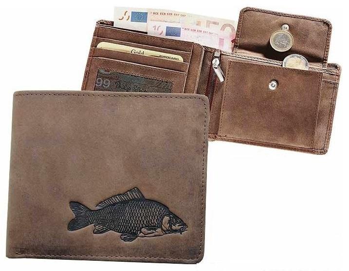 Kožená rybárská peňaženka 40 - kapor