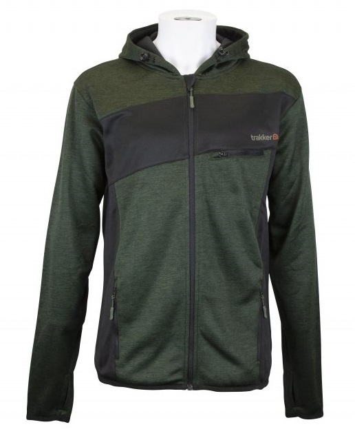 Trakker mikina marl fleece back hoody - veľkosť xl