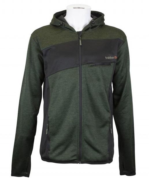Trakker mikina marl fleece back hoody - veľkosť xxl