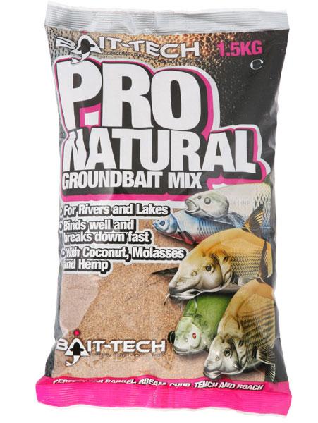 Bait-tech krmítková zmes pro natural dark bait 1,5 kg