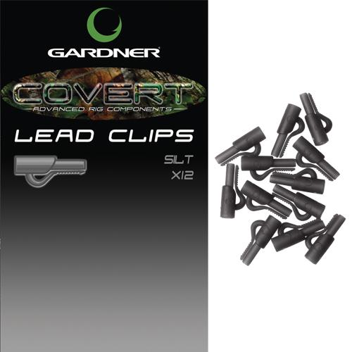 Gardner klip na bočné olovo covert lead clip c-thru-svetlo hnedá
