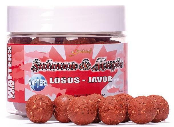 Sportcarp boilie neutrálne vyvážené nástrahy wafters cork 300 ml 20 mm-salmon maple